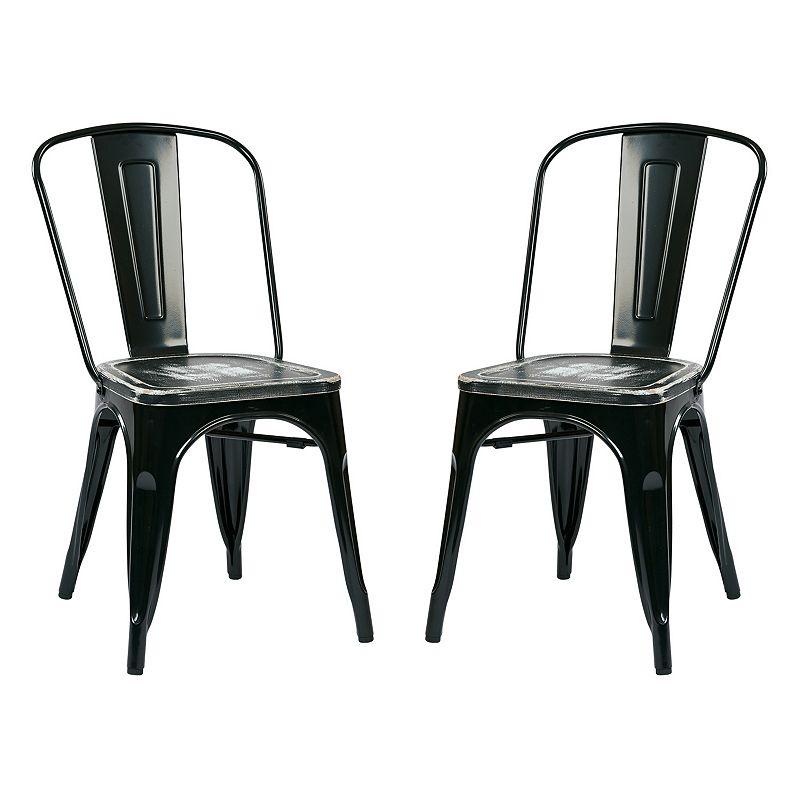 OSP Designs 2-piece Bristow Vintage Dining Chair Set