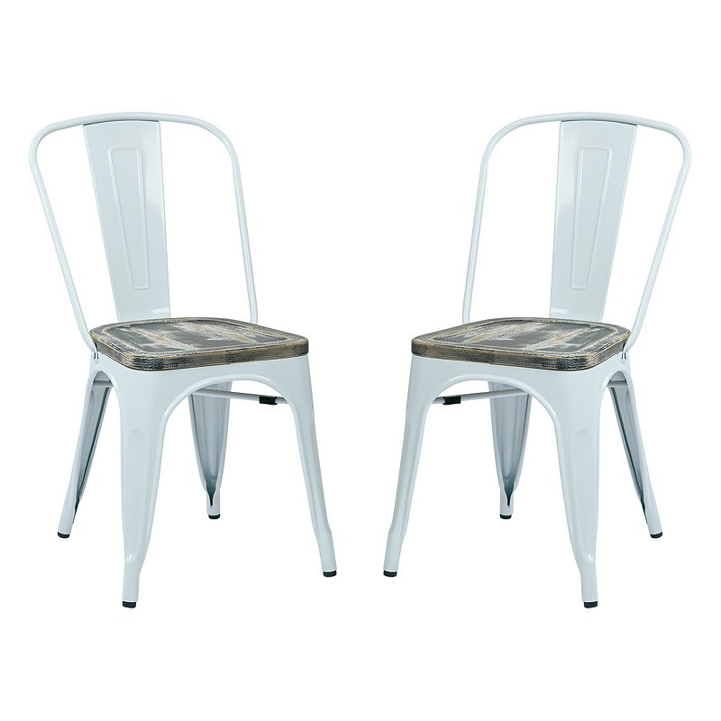 OSP Designs 2-piece Bristow Vintage Dining Chair Set