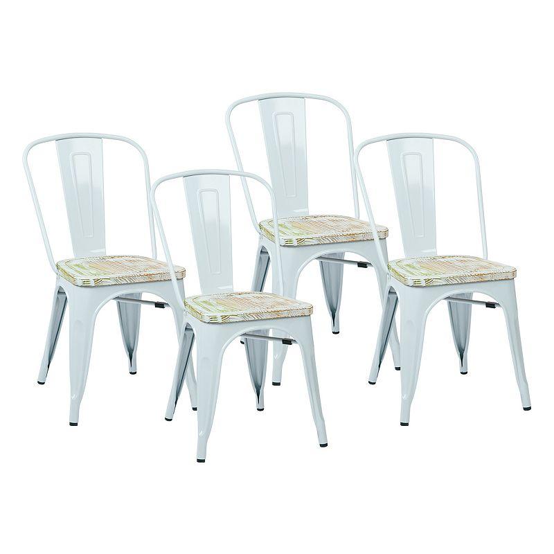 OSP Designs 4-piece Bristow Vintage Dining Chair Set