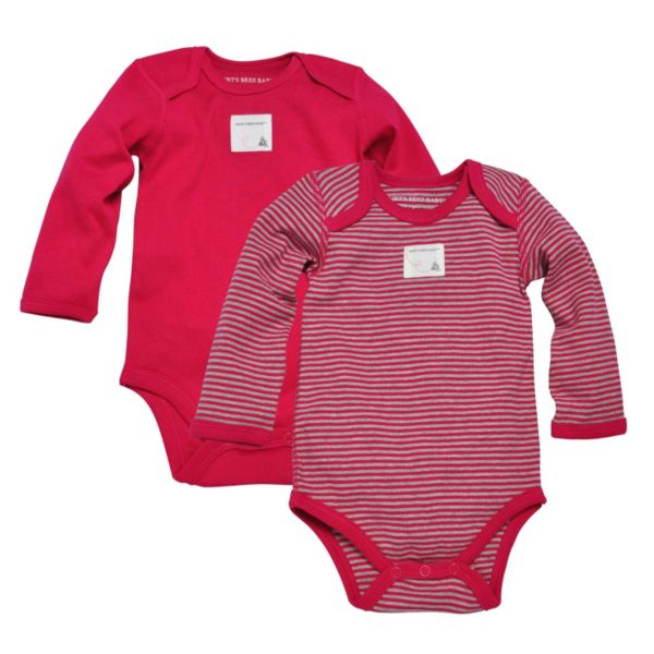 Burt's Bees Baby 2-pk. Organic Solid & Striped Bodysuits