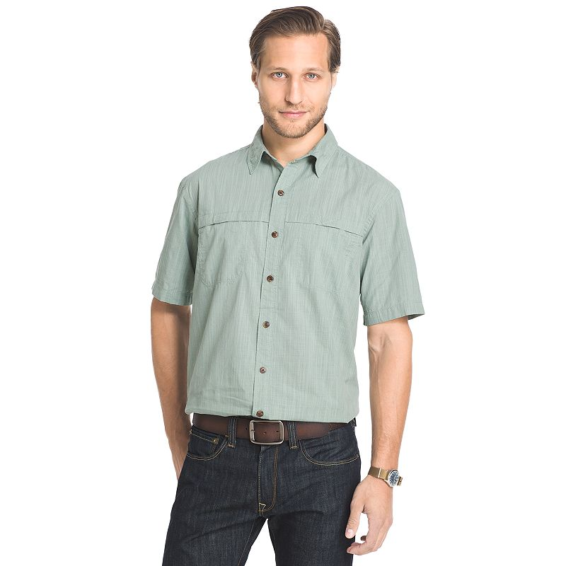 Men's Arrow Classic-Fit Crosshatch Button-Down Shirt