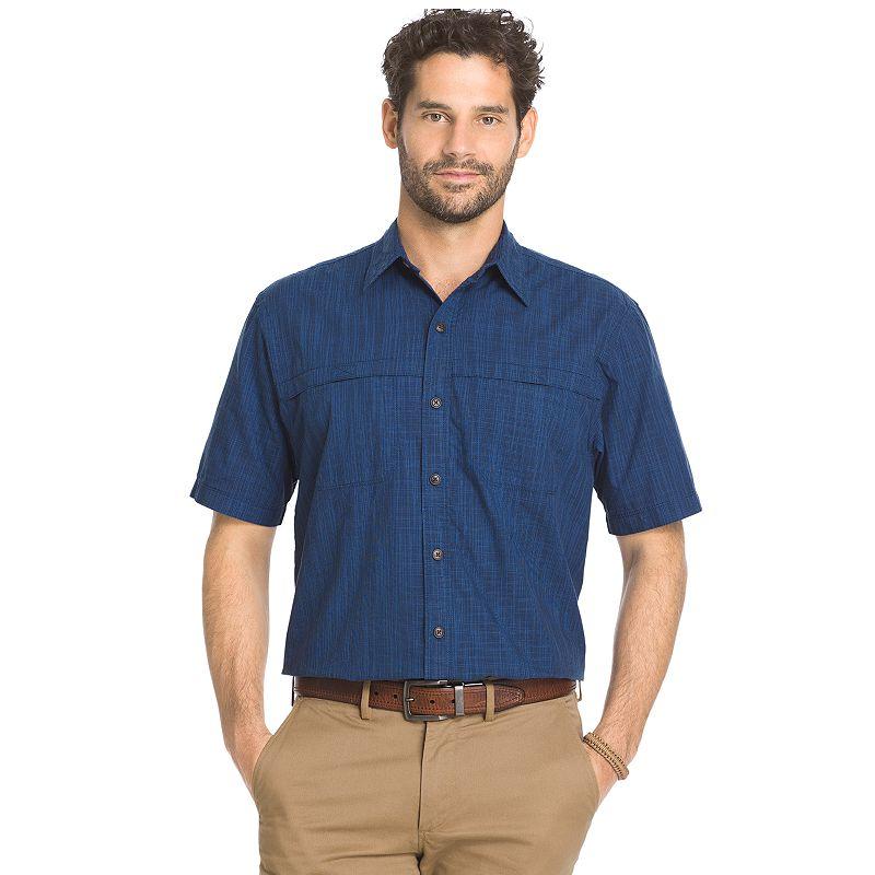 Men's Arrow Classic-Fit Crosshatch Button-Down Shirt