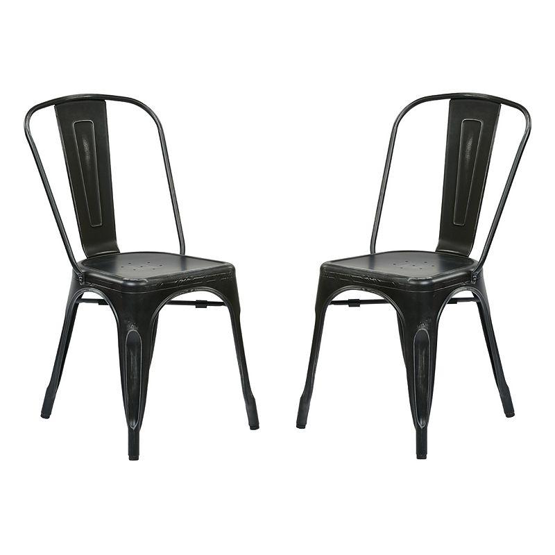 OSP Designs 2-piece Bristow Armless Dining Chair Set