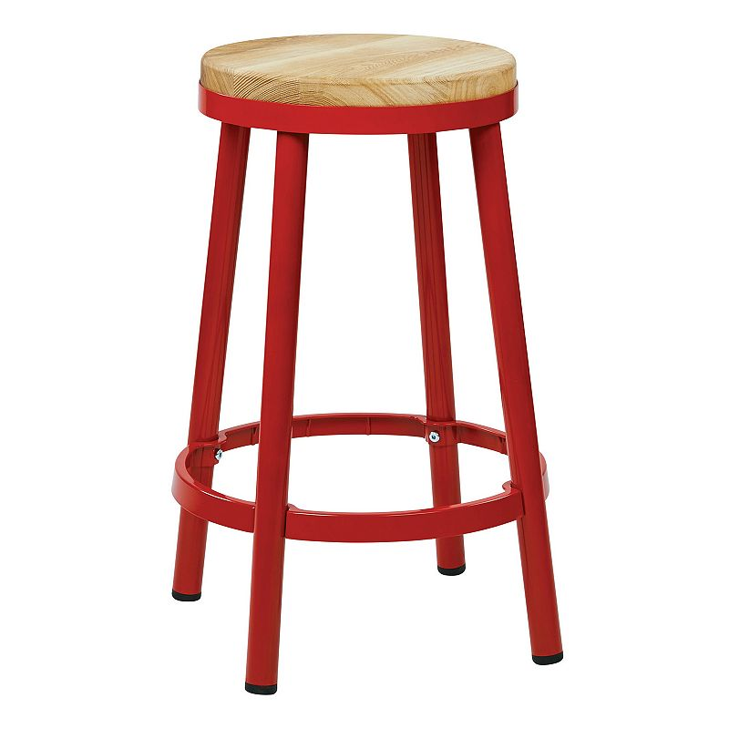 Counter Height Backless Stools : OSP Designs Bristow Metal Backless Counter Stool