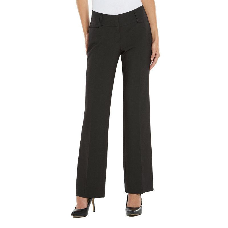 Apt. 9® Curvy Fit Pinstripe Dress Pants - Women's