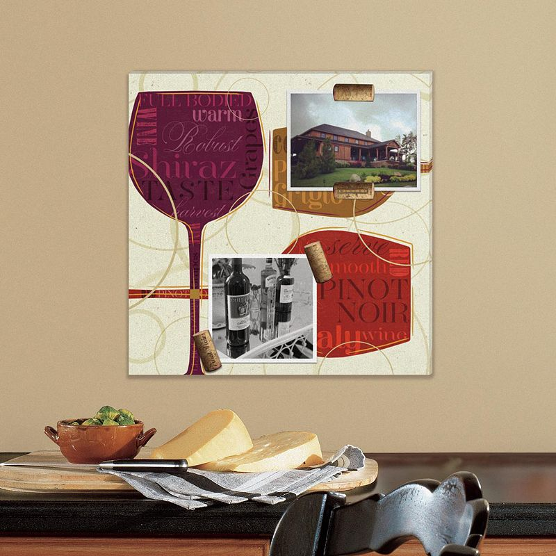 Colorful Wine 5-piece Magnetic Canvas Wall Art Set