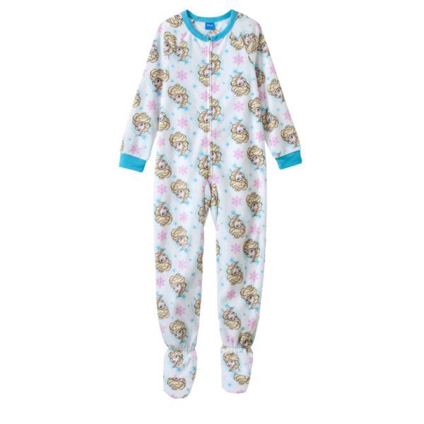 Disney's Frozen Elsa Snowflake Fleece Footed Pajamas - Girls 4-10