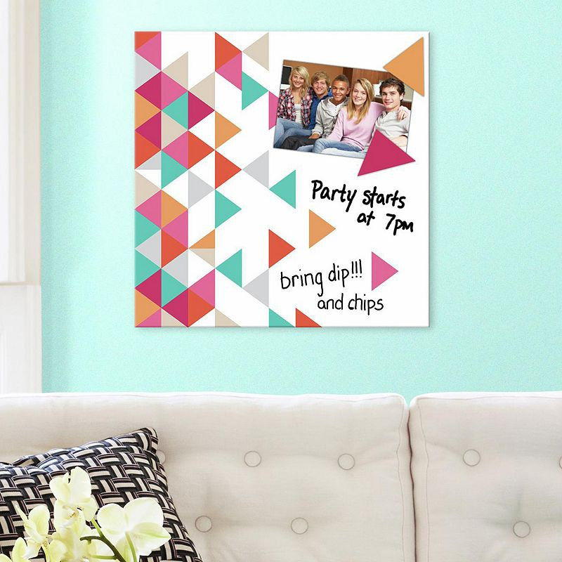 Triangle 5-piece Magnetic Dry Erase Wall Art Set
