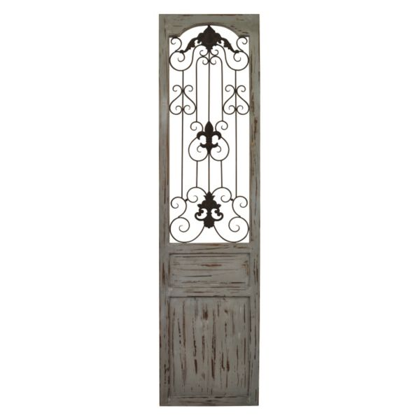 Belle Maison Distressed Scroll Gate Wall Decor