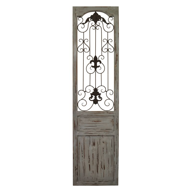 belle maison distressed scroll gate wall decor distressed rustic home decor reclaimed wood furniture
