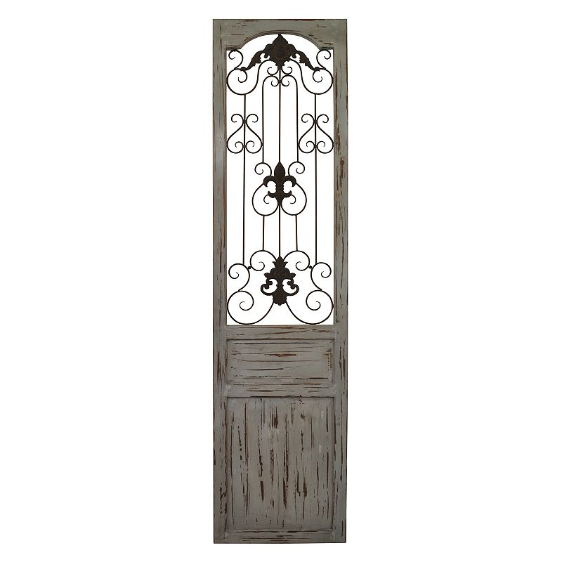 Distressed Home Decor: Belle Maison Distressed Scroll Gate Wall Decor