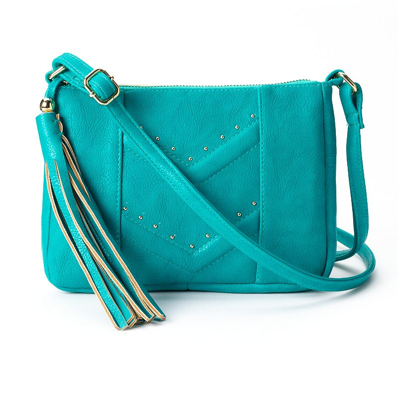 Dolce Girl Sophie Chevron Studded Mini Crossbody Bag