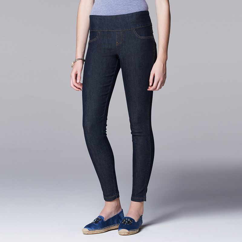 Women's Simply Vera Vera Wang Denim Shaper Leggings
