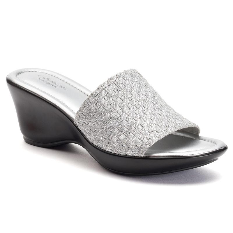 Croft & Barrow® Alyse Women's Woven Wedge Sandals