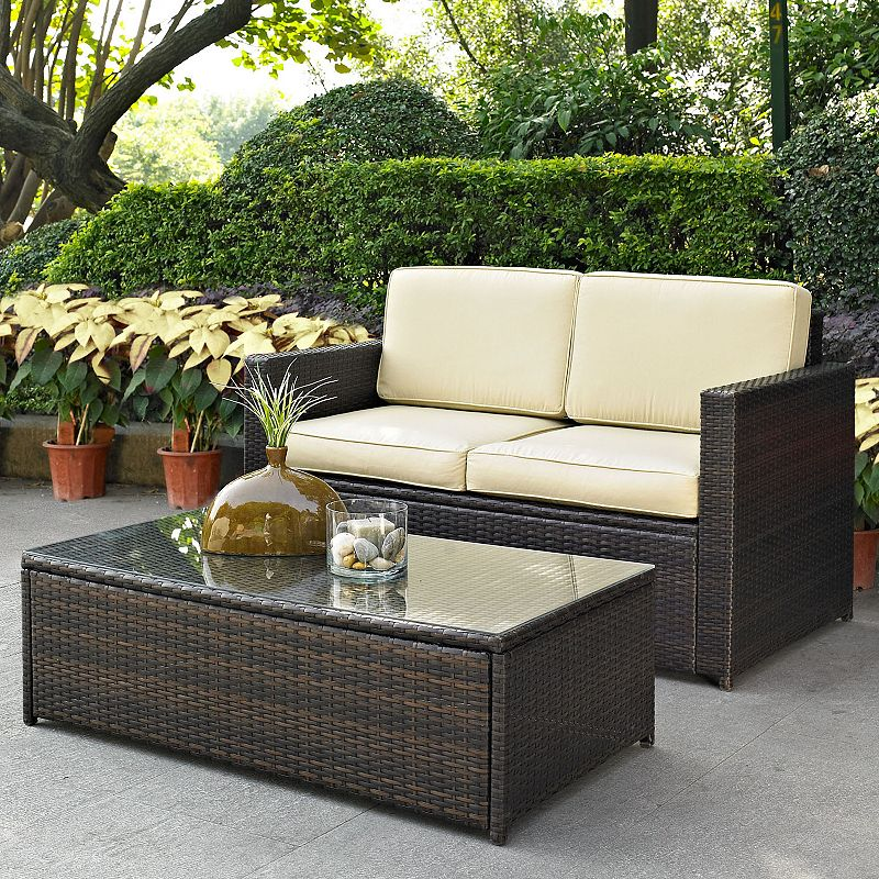 Palm Harbor 2-Piece Outdoor Wicker Couch Set