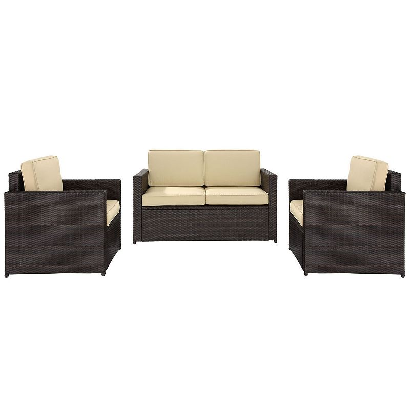 Palm Harbor Outdoor Wicker Chair & Loveseat Seating Set