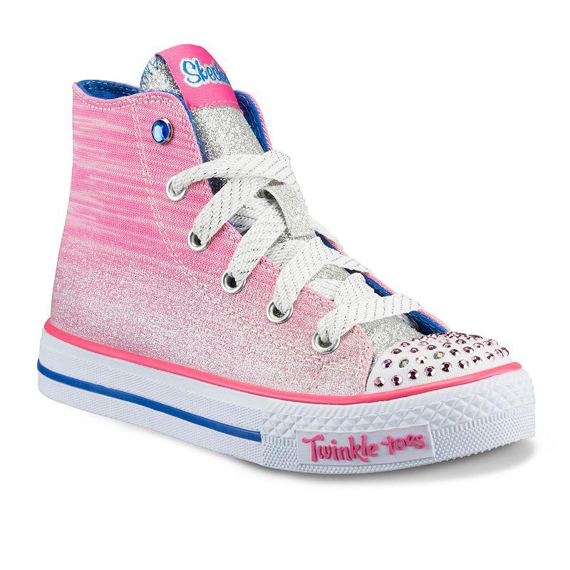 Skechers Twinkle Toes Shuffles Splendorific Girls' Light-Up High-Top Sneakers