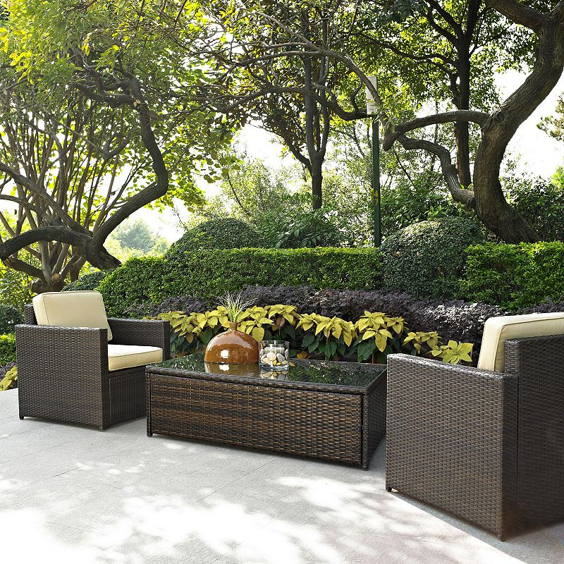 Palm Harbor Outdoor Wicker Chair & Table Seating Set
