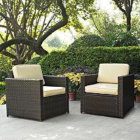 Palm Harbor 2-Piece Outdoor Wicker Chair Set