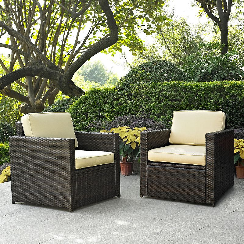 Palm Harbor 2-Piece Outdoor Wicker Chair Set