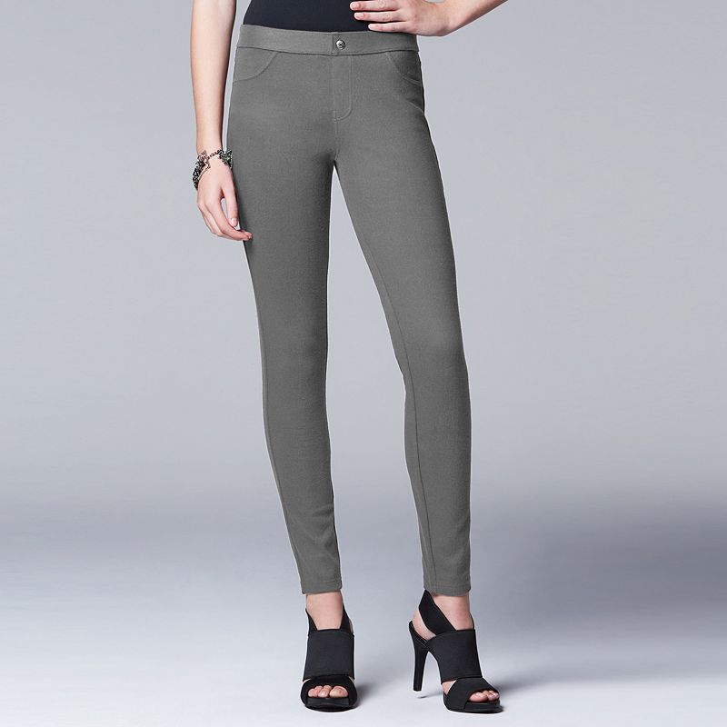 Simply Vera Vera Wang Women's Smooth Twill Leggings