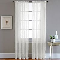 CHF Pintuck Sheer Voile Curtain - 51'' x 63''