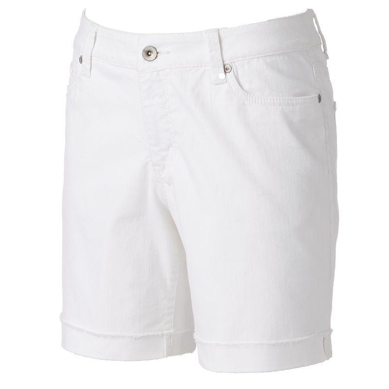 Women's SONOMA Goods for Life™ Frayed-Hem Boyfriend Shorts