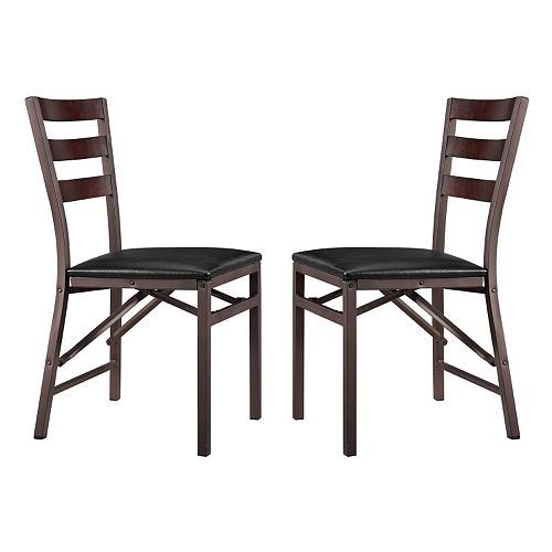 linon arista metal folding chair 2 piece set