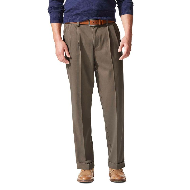 Men's Dockers® Comfort-Waist Stretch Khaki D4 Relaxed-Fit Pleated Pants