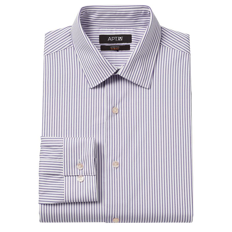 Men 39 S Apt 9 Slim Fit Bright Striped Stretch Spread
