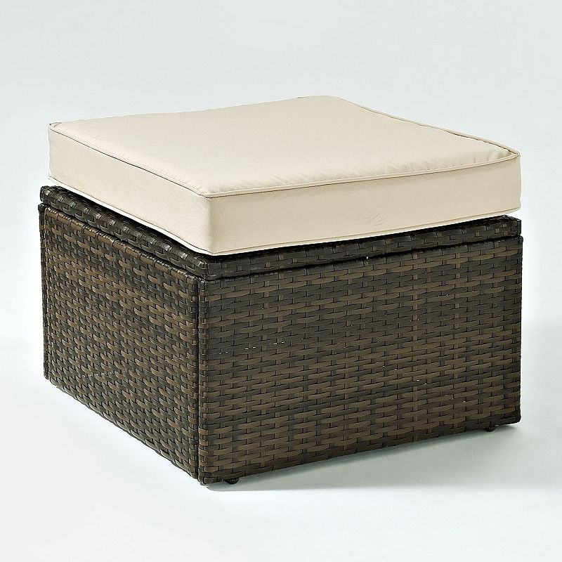 Crosley Outdoor Palm Harbor Outdoor Wicker Ottoman