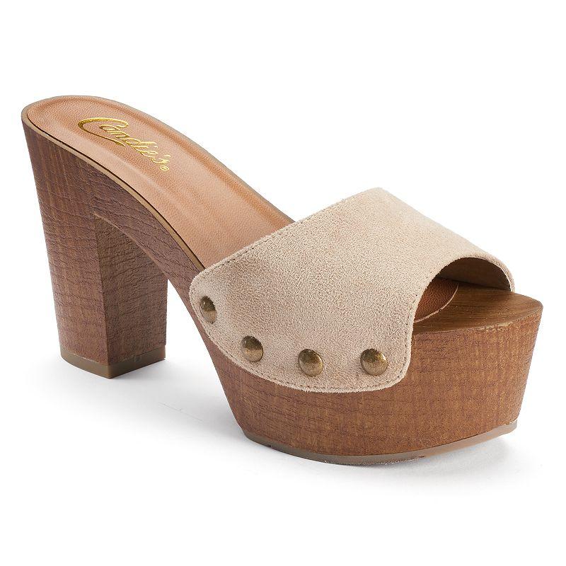 Candie's® Women's Peep-Toe Clog Sandals
