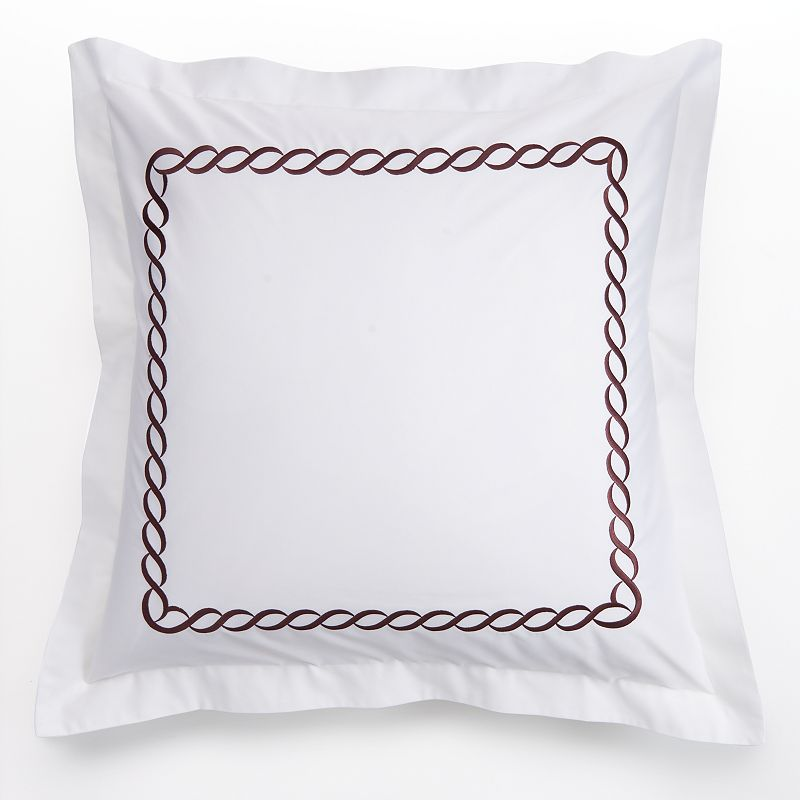 Kassatex Letto Cable 300-Thread Count Egyptian Cotton Sateen Euro Sham