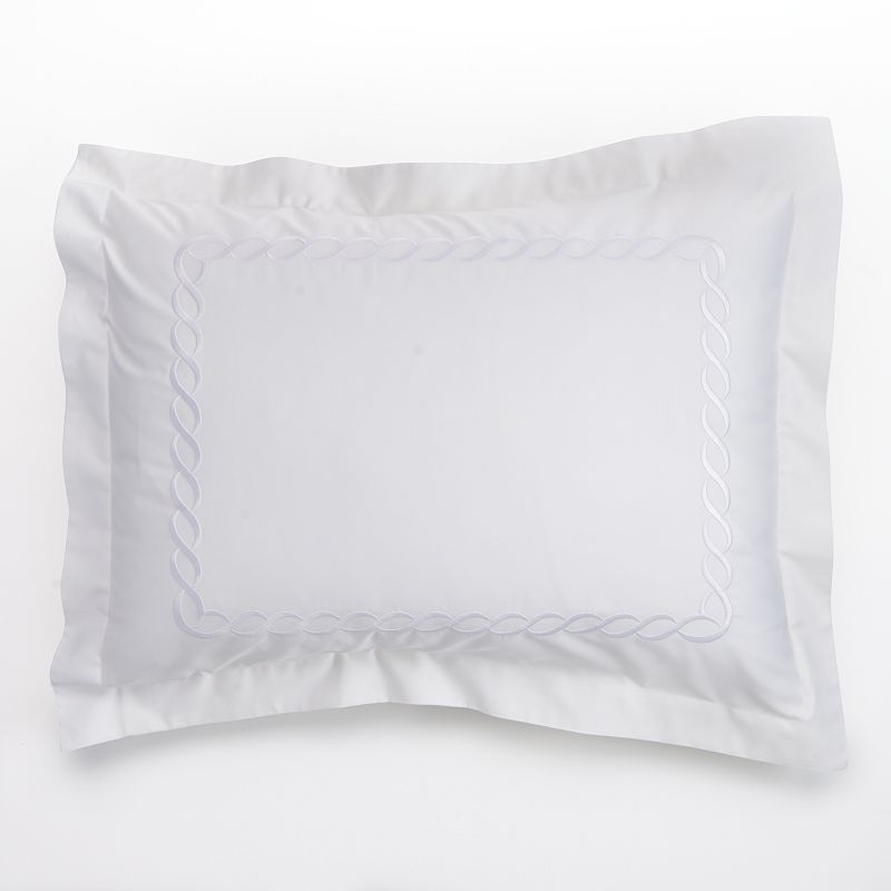 Kassatex Letto Cable 300-Thread Count Egyptian Cotton Sateen Sham