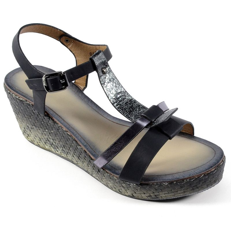 Corkys Basketweave Women's Wedge Sandals