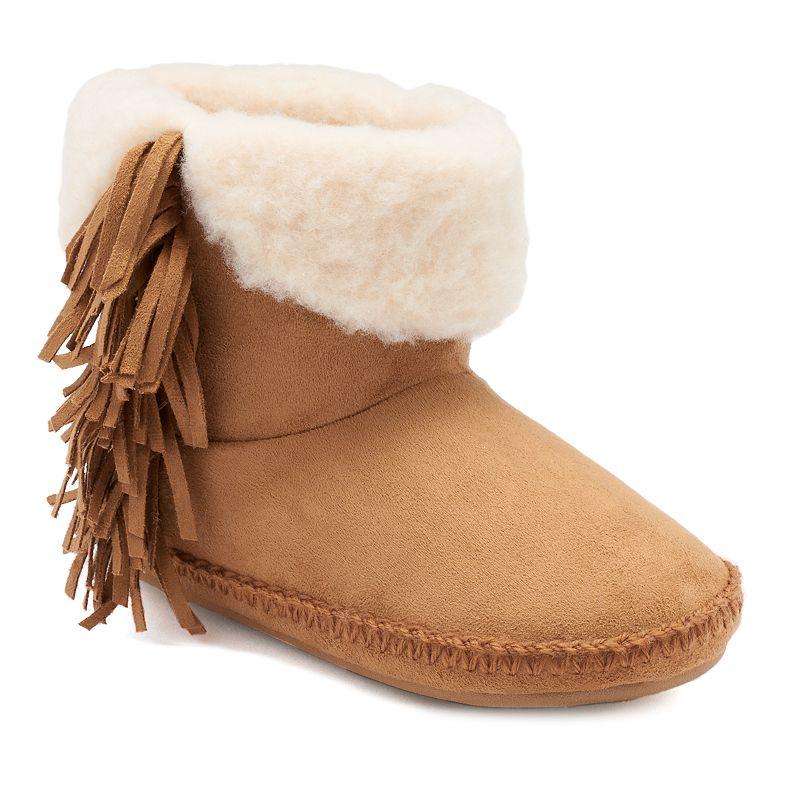 Madden Girl Fringed Women's Boot Slippers