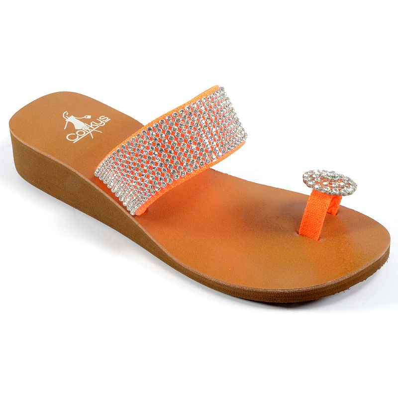 Corkys Cleveland Women's Wedge Thong Sandals