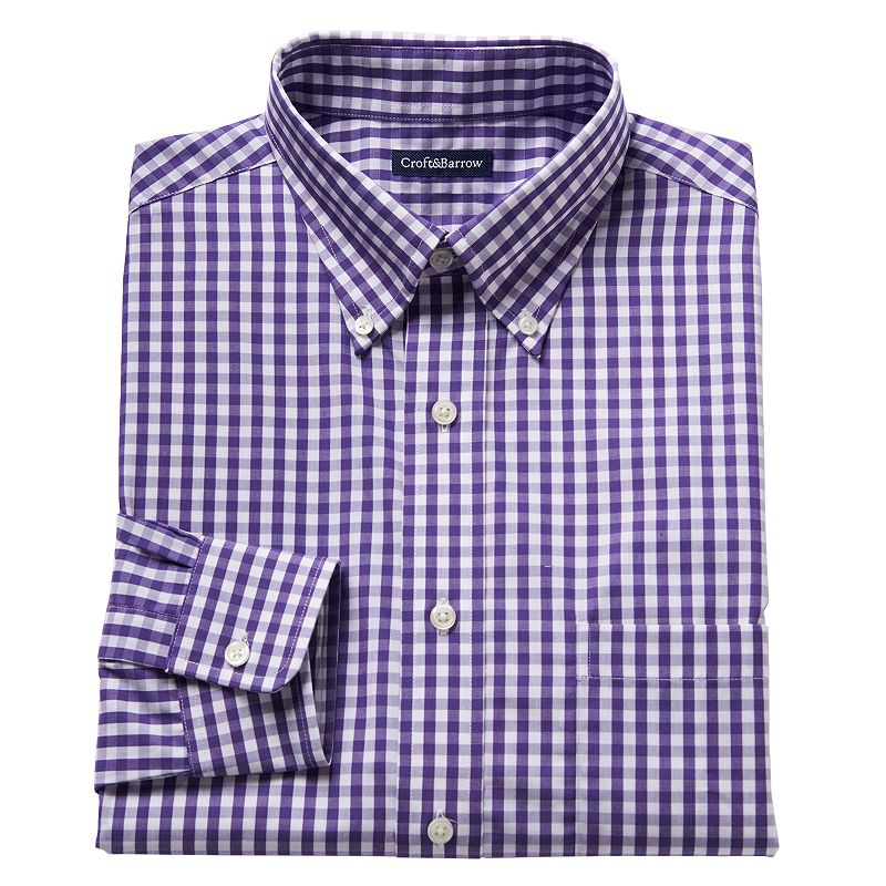 Men's Croft & Barrow® Slim-Fit Button-Down Dress Shirt