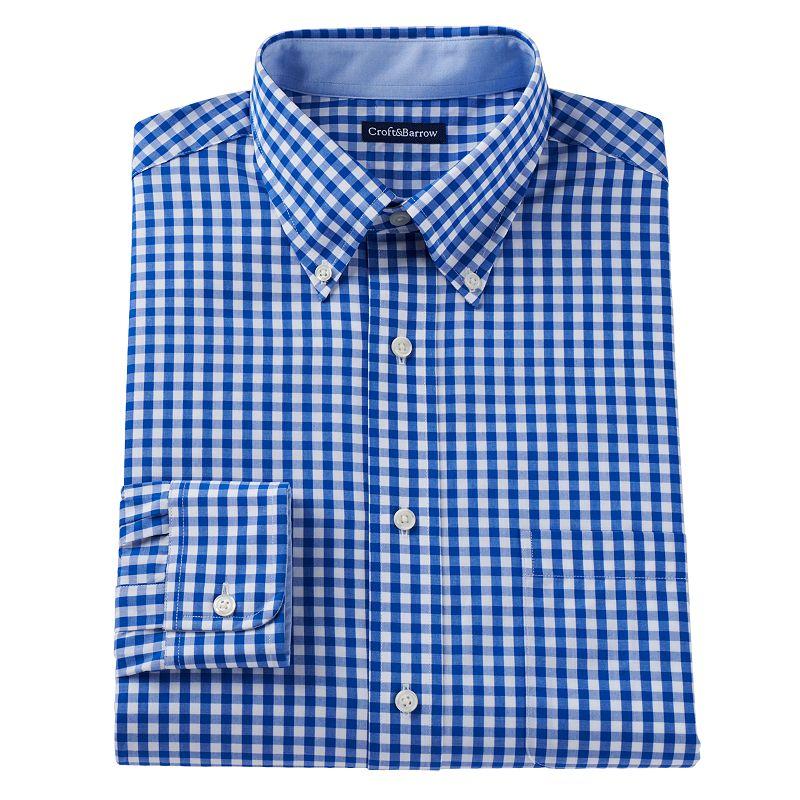 Men's Croft & Barrow® Slim-Fit Button-Down Dress Shirt