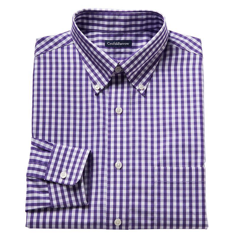 Men's Croft & Barrow® Fitted Button-Down Dress Shirt