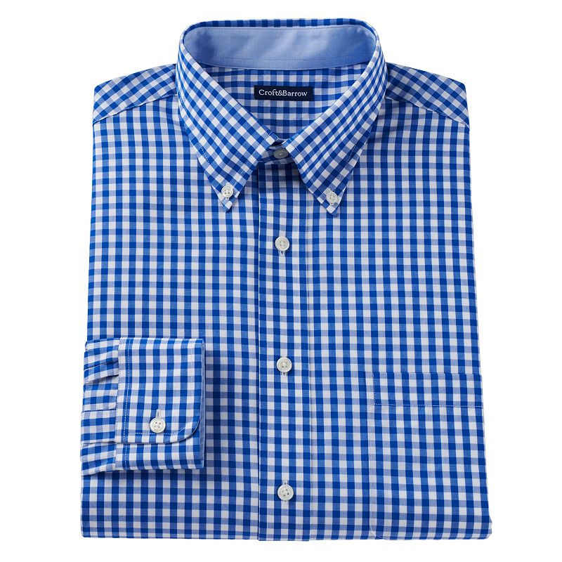 Men's Croft & Barrow® Fitted Button-Down Dress Shirt