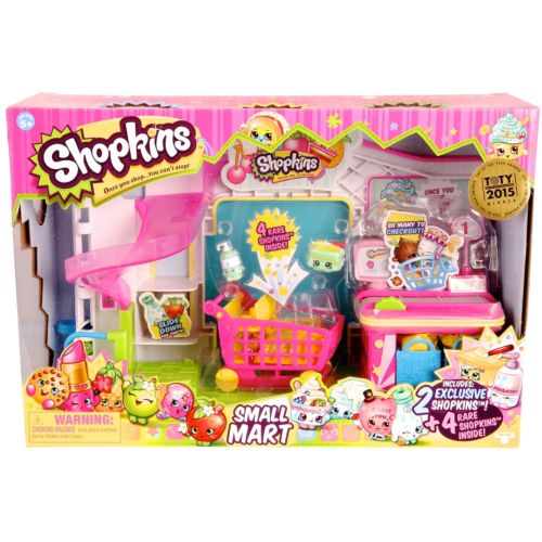Shopkins Small Mart & 4 Rare Shopkins Set