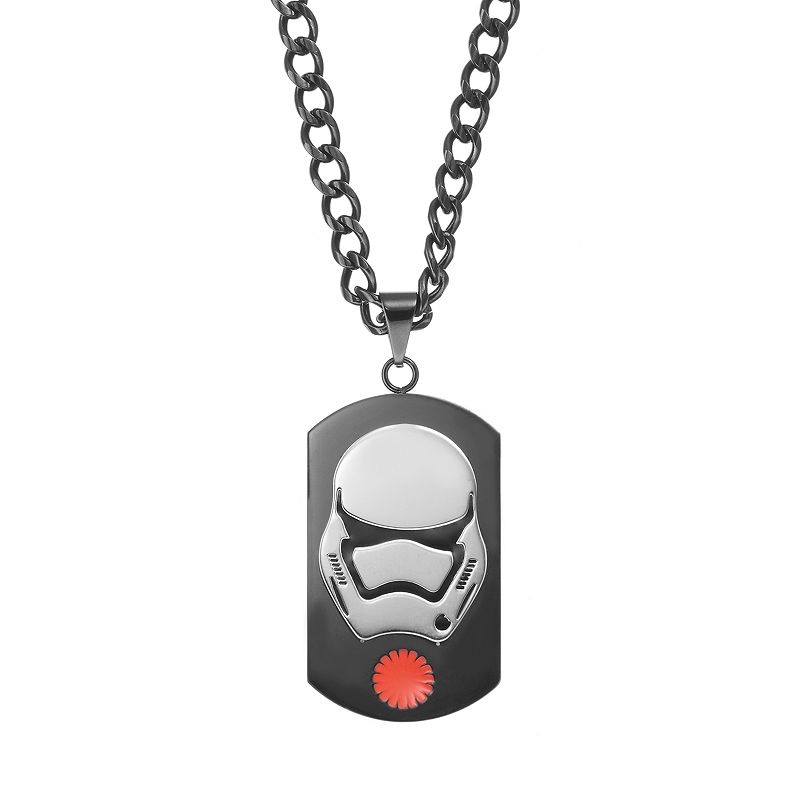 Star Wars: Episode VII The Force Awakens Men's Stainless Steel Stormtrooper Dog Tag Necklace