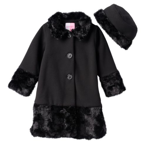 Sophie Rose Faux-Fur Coat - Toddler Girl