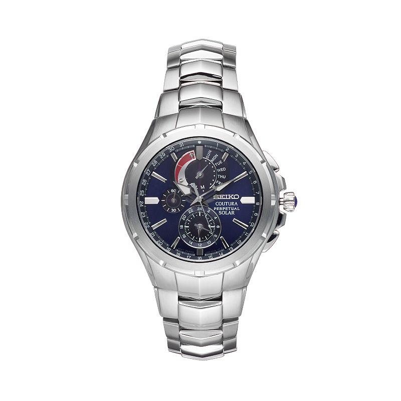 Seiko Men's Coutura Stainless Steel Solar Chronograph Watch - SSC375