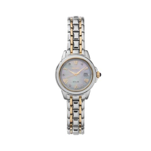 Seiko Women's Le Grand Sport Diamond Two Tone Stainless Steel Solar Watch - SUT244
