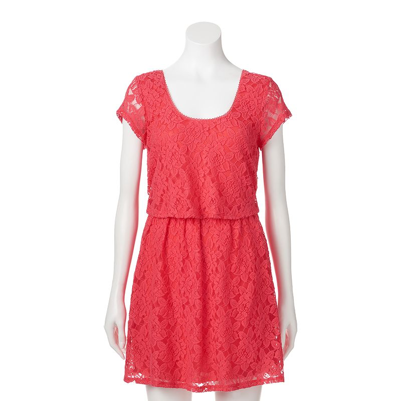 Juniors' Speechless Lace Skater Dress