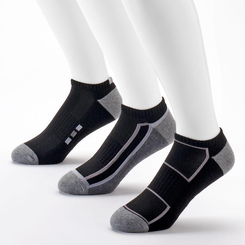 Men's Tek Gear® 3-pack Cushioned Low-Cut Performance Socks with Cinch Sack