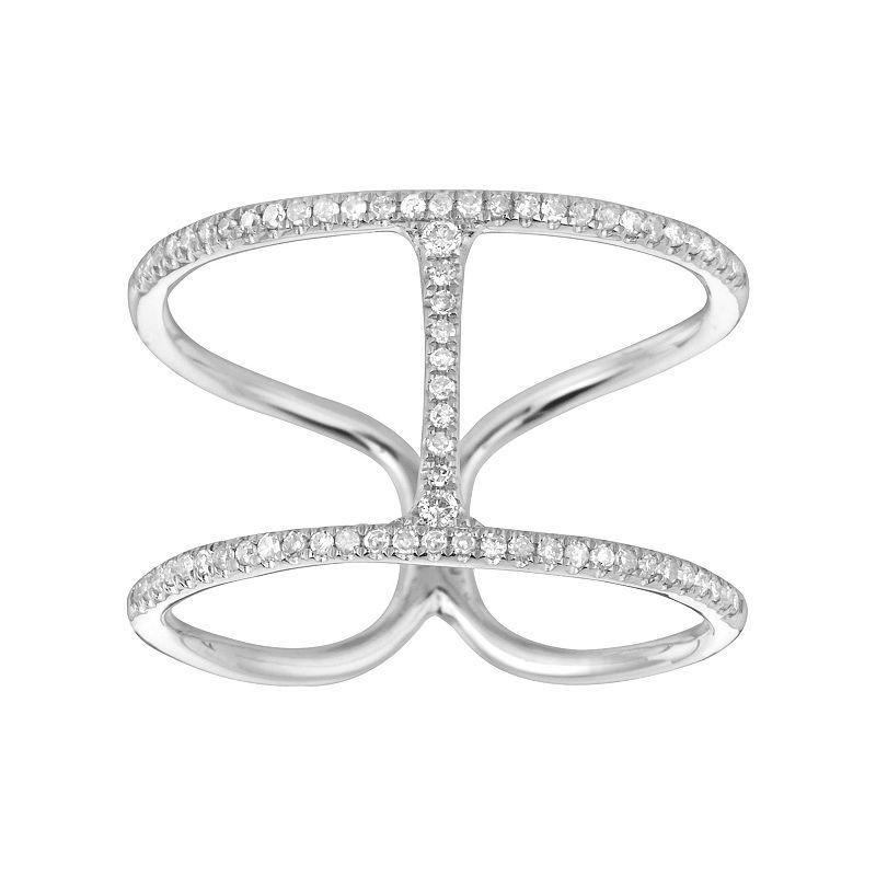 1/4 Carat T.W. Diamond Sterling Silver H Ring