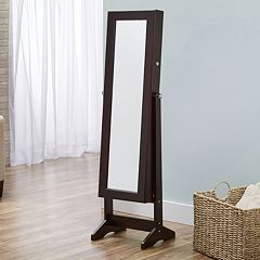 InnerSpace Cheval Mirror Floor Jewelry Armoire by